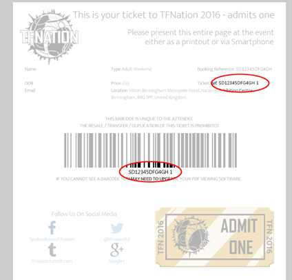Ticket Reference Help